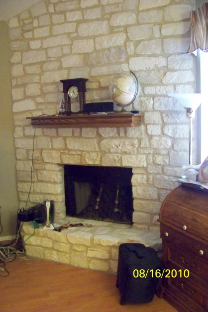 Painting Limestone Fireplace Painting Diy Chatroom
