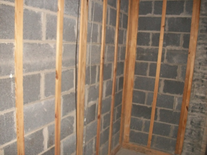 Insulating basement wall with 1 furring strips insulation diy chatroom home improvement forum for Framing interior basement walls