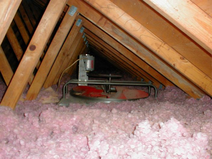 Sealing or insulating attic fan building construction for Basement insulation wrap