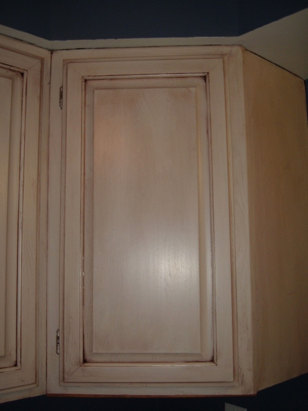 ... Tips On Glazing Kitchen Cabinets 016