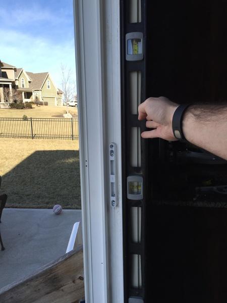 8ft Sliding Patio Door Frame Not Plumb - Windows and Doors - DIY ...