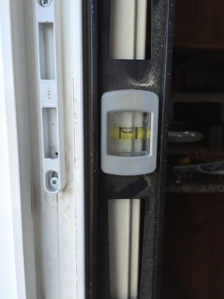 8ft Sliding Patio Door Frame Not Plumb Windows And Doors Diy