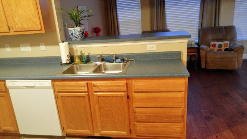 Kitchen Remodel Oak Cabinets Paint Stain Granite