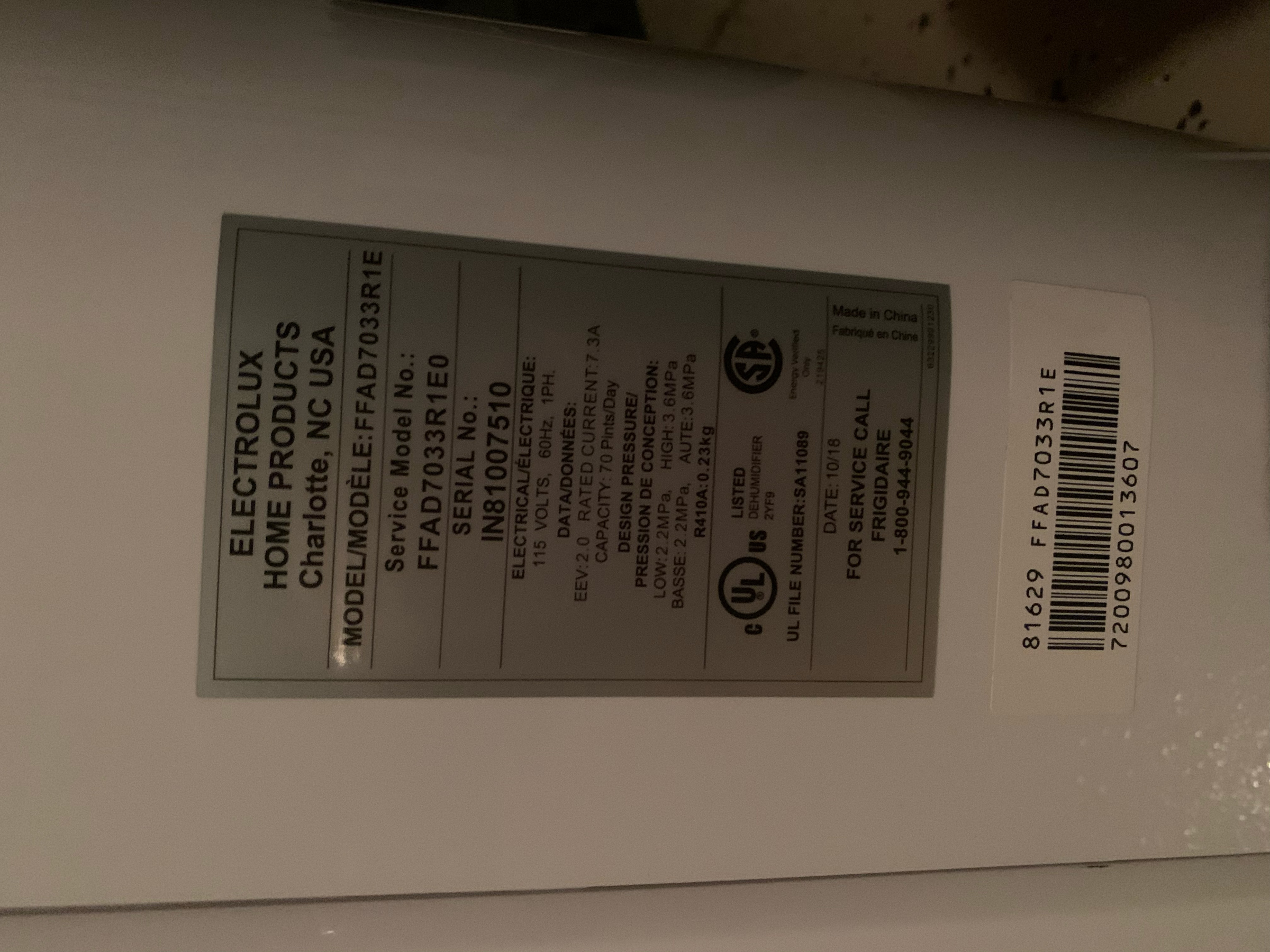 Frigidaire dehumidifier 70 pint. Can it be saved?-0225552d-c675-4e9e-9f37-7bed8bba6ab2.jpg