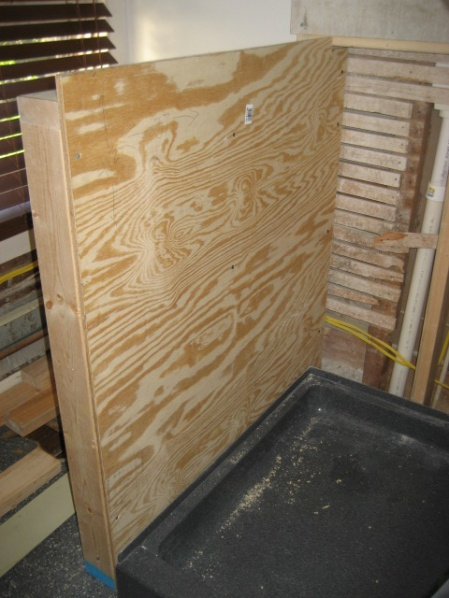 stablize half wall for shower building construction diy
