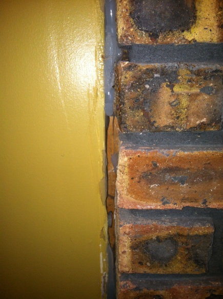 Draft Between Brick & Drywall Around Fireplace - Drywall & Plaster ...