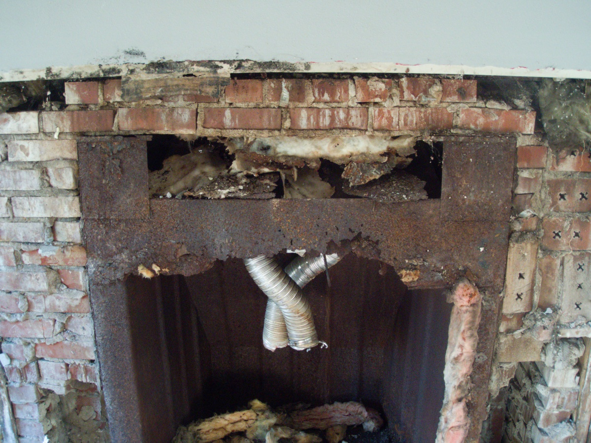 Tore Off Brick Fireplace Facade And Found This Concrete