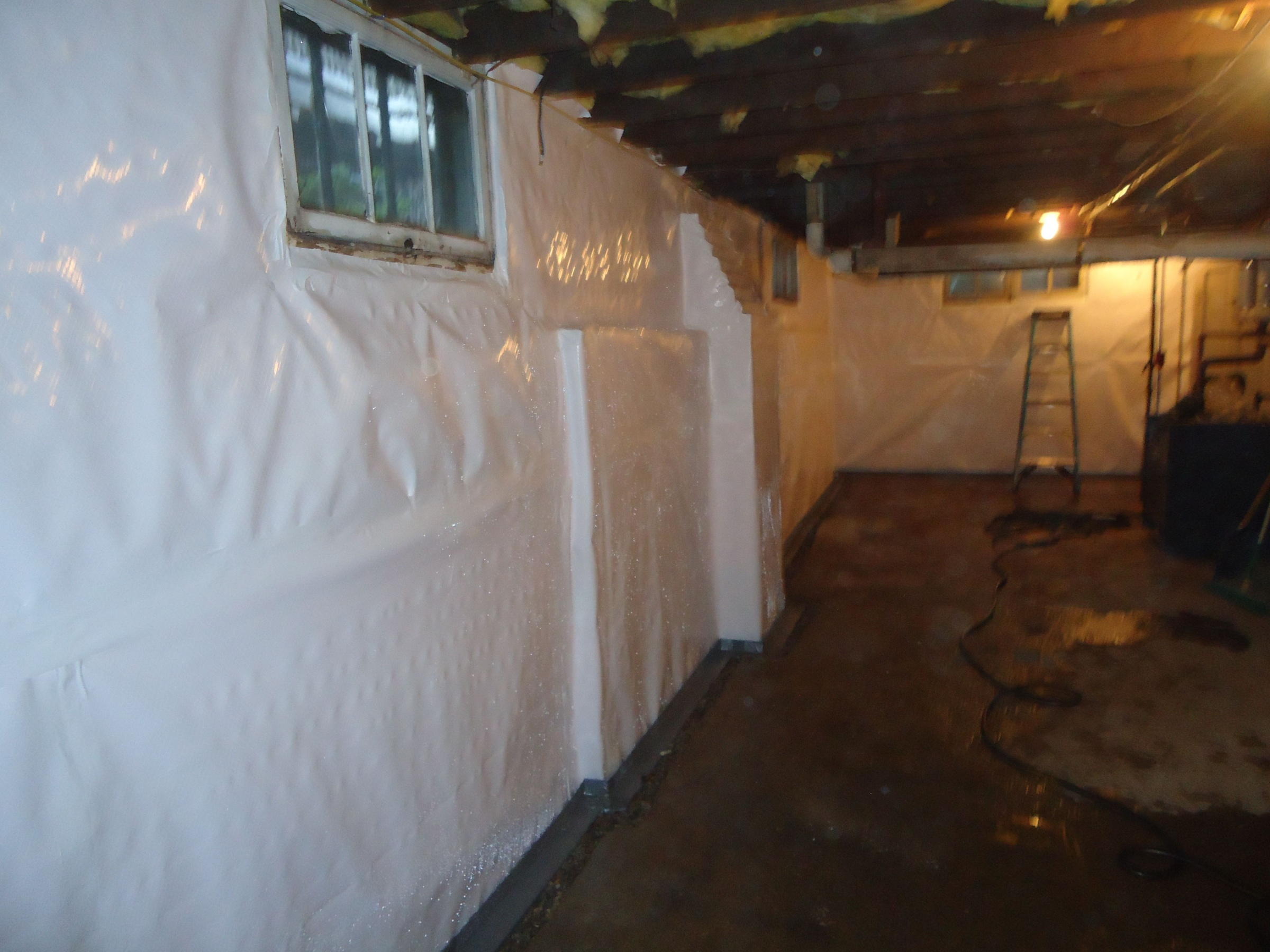 Insulating Basement Walls With French Drain - Insulation