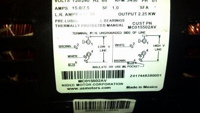Wiring A Sdaire 4b233e Motor - Electrical - DIY Chatroom Home ...