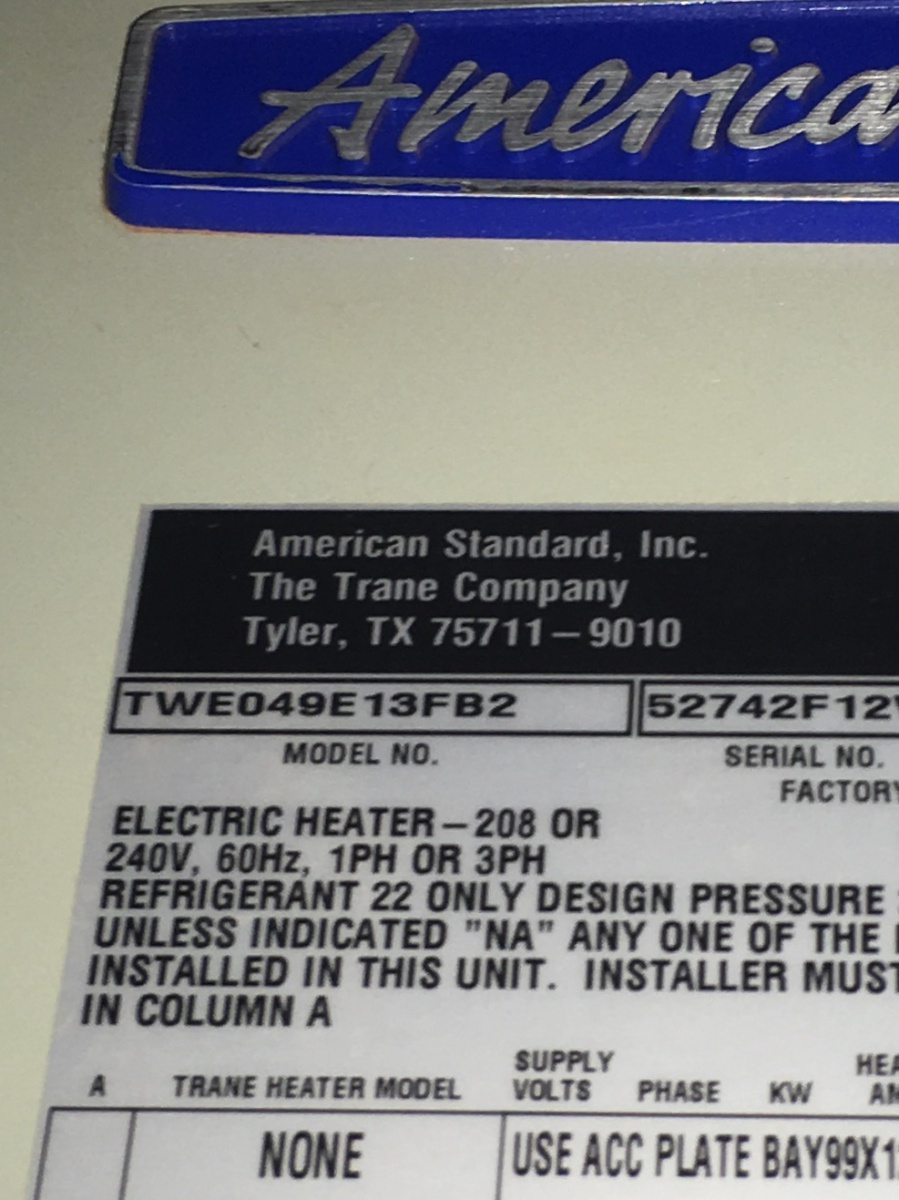trane how to turn on from heat to cold
