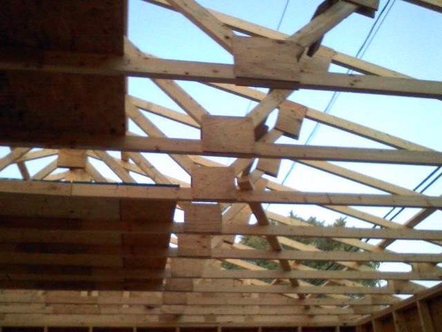 Image gallery homemade roof trusses for Building your own roof trusses
