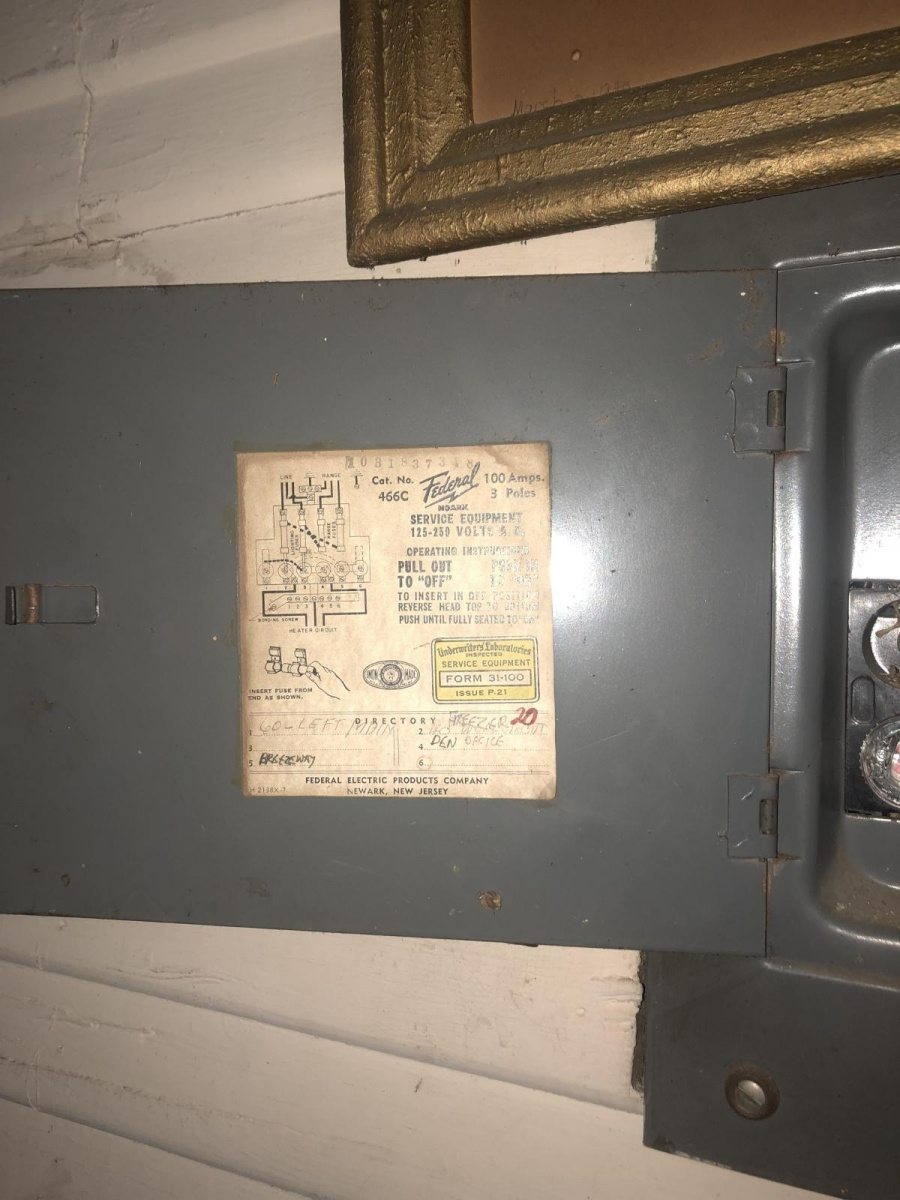 Vintage Cutler Hammer Fuse Box Electrical And Wadsworth Old 60 Amp 1950s Federal Diy Chatroom Home Improvement Panel Diagram