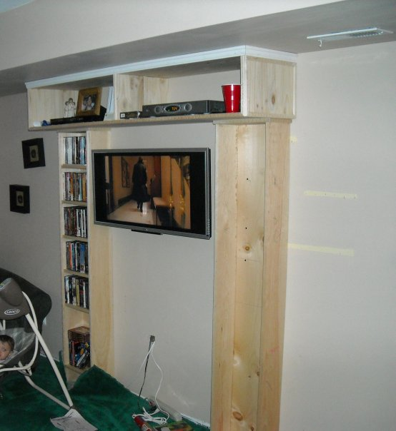 Built-in Entertainment Center and Faux Fireplace-1.jpg