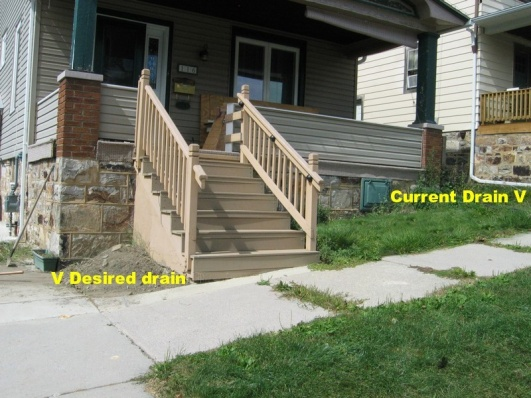 Adding exterior drain with concrete steps in way-1.jpg