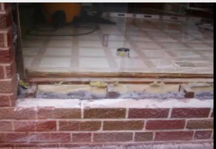Patio Door Bottom Sill Over Brick/concrete Block 1 ...