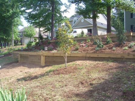 Railroad Tie Retaining Wall - Landscaping & Lawn Care - DIY Chatroom