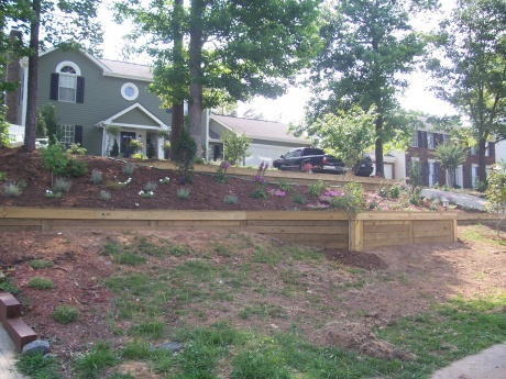 average cost of retaining walls railroad tie retaining wall landscaping lawn care diy