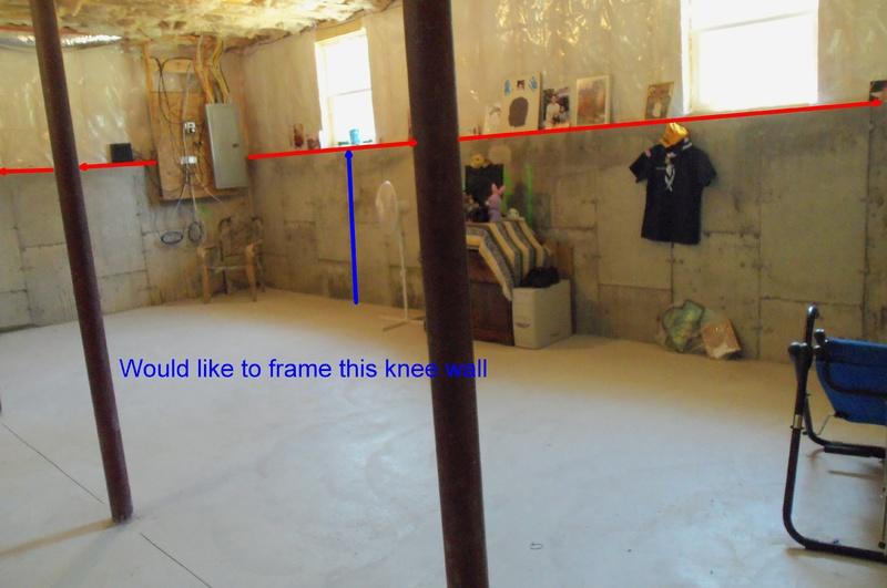 Framing A Basement Knee Wall Carpentry Diy Chatroom Home