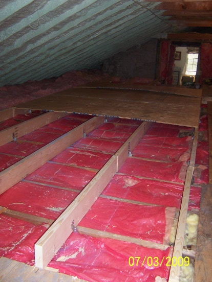 Raise Attic Floor Over Wires With 2x2s Carpentry Diy Chatroom