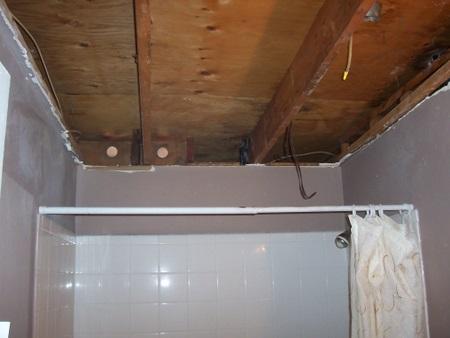 Drywall Ceiling Repair After Bathroom Fire Help Drywall