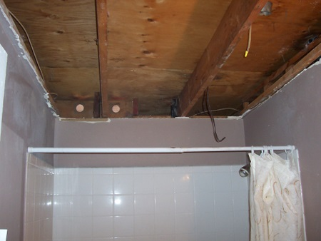 Drywall Ceiling Repair After Bathroom Fire Help Drywall Plaster - How to fix bathroom ceiling