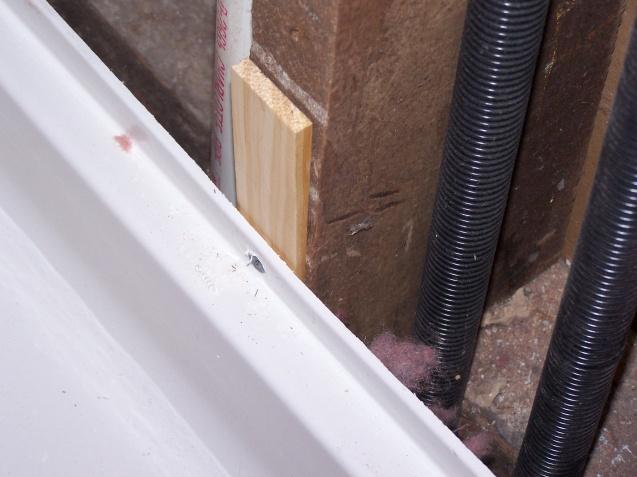 Ing Backer Board Up To Plastic Shower Pan Remodeling Diy