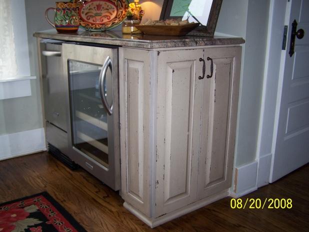 ... Installing Cabinets In Un Level Kitchen 100_2587