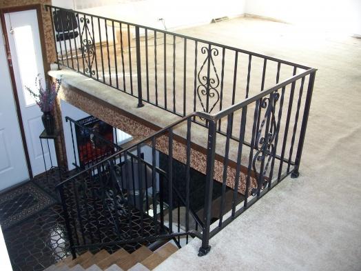 Oak hand rail on existing iron stair railing-100_6670.jpg