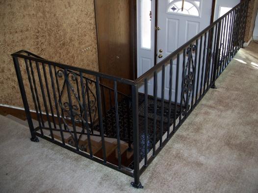 Oak hand rail on existing iron stair railing-100_6674.jpg