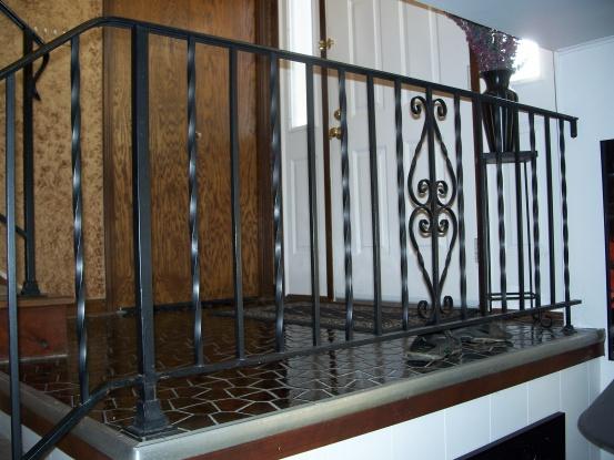 Oak hand rail on existing iron stair railing-100_6689.jpg