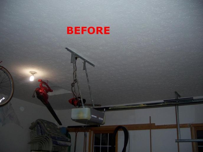 side garage door openerGarage Door Opener Mount Loose In Ceiling  General DIY