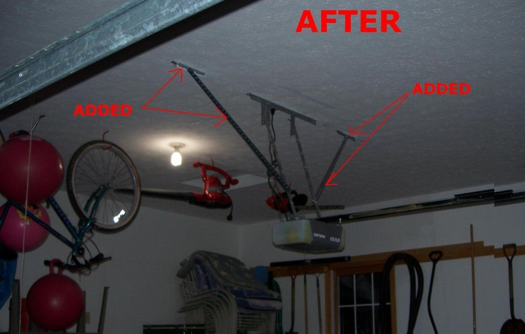 Garage door opener mount loose in ceiling-100_8174.jpg