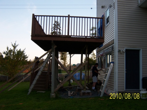 Re Attaching Deck To Ledger Board Building