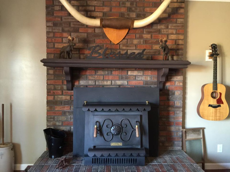 Fireplace Design inside outside fireplace : Brick Fireplace... Airstone Outside, But What Inside? - Concrete ...