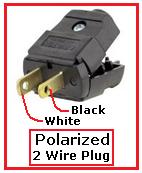 wiring non polarized plug electrical diy chatroom home rh diychatroom com wiring a non-polarized plug wiring lamp polarized plug