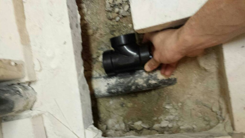 Shower drain tie in-1450745097283.jpg