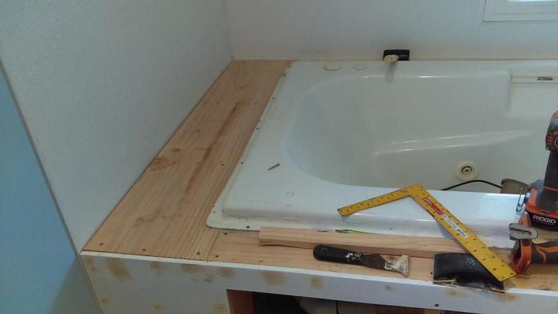 Drop In Bathtub Deck - Concrete, Stone & Masonry - DIY Chatroom ...