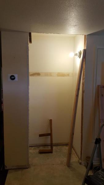 Widening Doorway In Entry Closet Missing Jack Studs