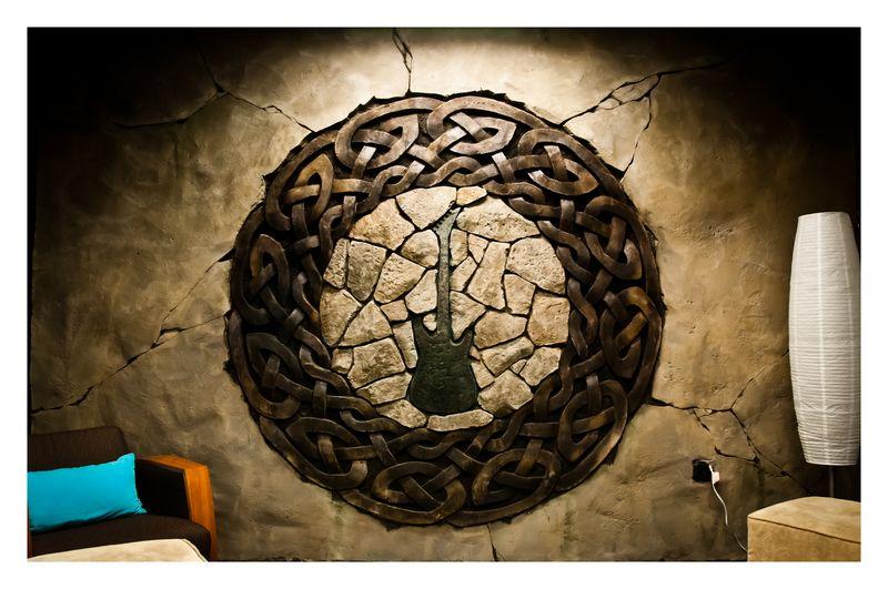 vertical decorative concrete theme wall - project showcase - diy
