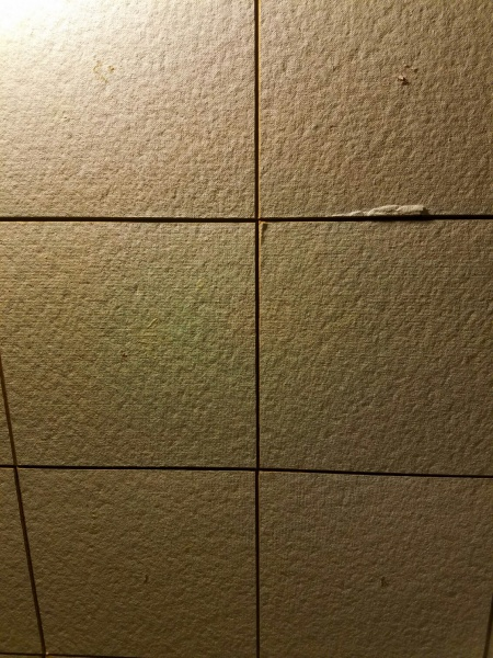 Ceiling tiles asbestos identify