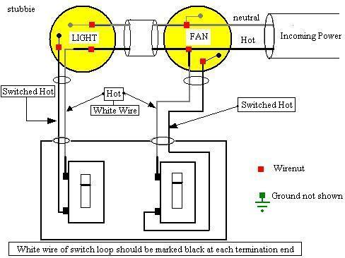 bathroom fan using switch loop electrical diy chatroom home rh diychatroom com wiring bathroom fan with light and heater wiring bathroom fan switch