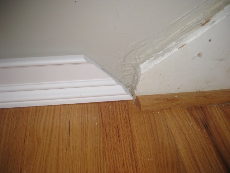Baseboard Transition Can T Get That Angle Carpentry