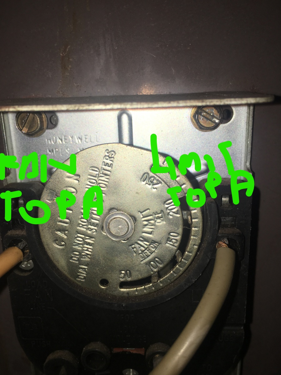 Fan Limit Control Switch Wiring Circuit And Diagram Hub Boiler Smart Diagrams Help Hvac Diy Honeywell Furnace Settings