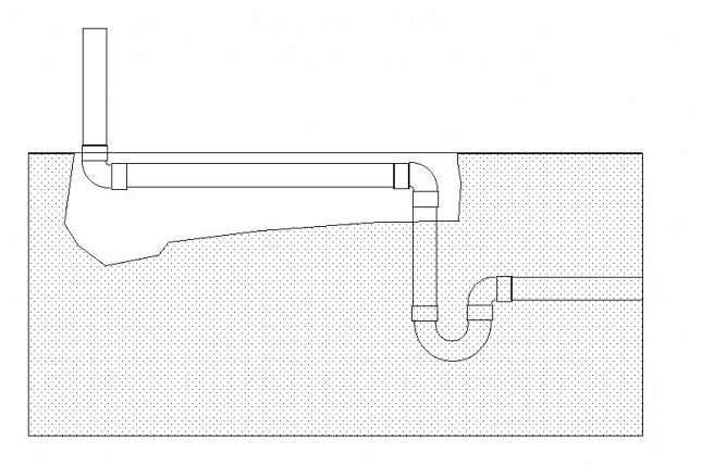 Plumbing DIY basement drain oops-1trap.jpg