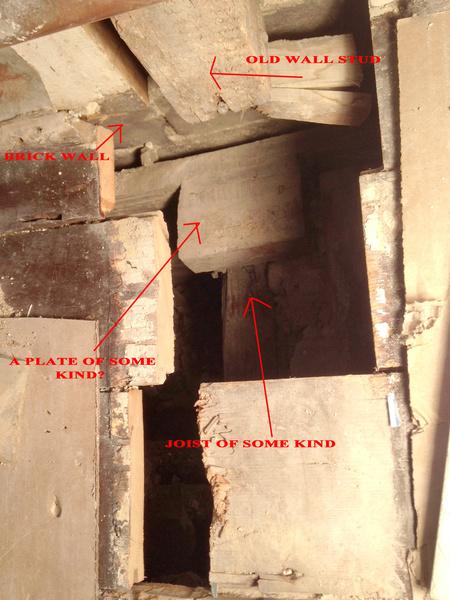 Load bearing joining at brick wall.  Studs where?-2.jpg