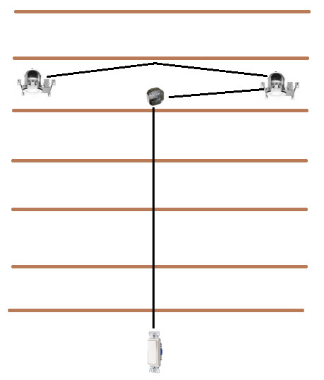 basement recessed lights junction box question. Black Bedroom Furniture Sets. Home Design Ideas