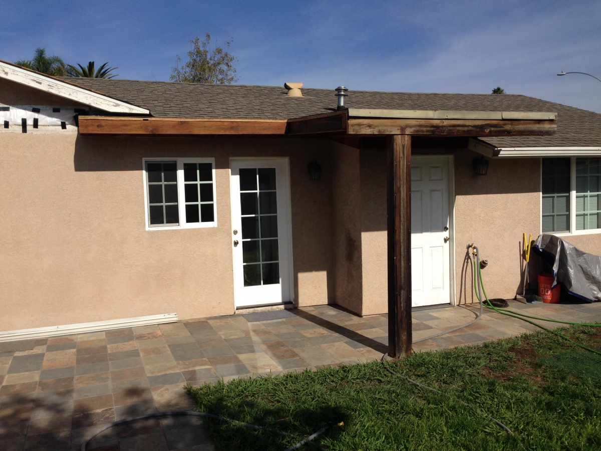 Stucco Questions After Patio Overhang Removal
