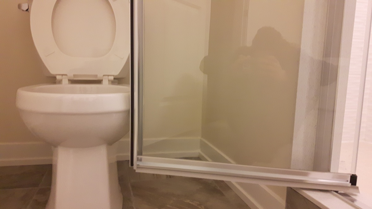 Shower Door Hits Toilet - What are the possible ways of repairing this problem?-2.jpg