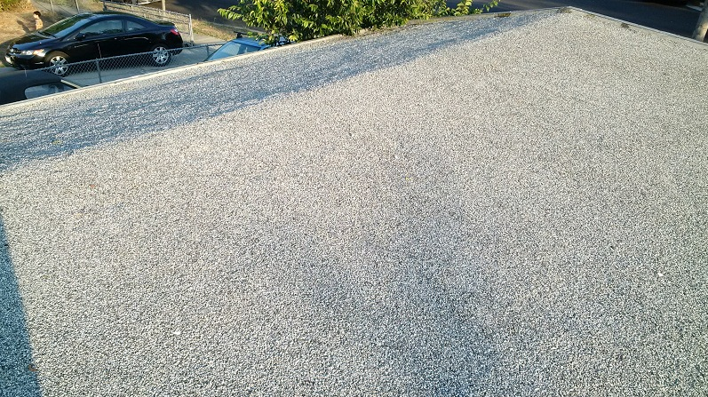 Coating on built up tar and gravel roof roofing siding diy home