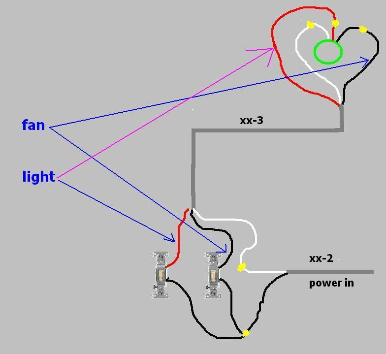 Wiring Fan And Light Separate - Electrical - DIY Chatroom ...